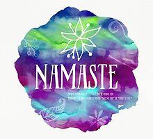 Namaste Confetti mix watercolor by Pranatheory