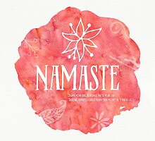 Namaste Amore watercolor by Pranatheory