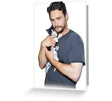 James Franco's Cat Greeting Card