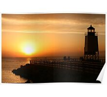 Summer Sunset -- Charlevoix, Michigan Poster