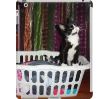 Adorable kitty in a hamper - 2 iPad Case/Skin