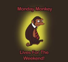 I Hate Mondays Monkey  by g1crum