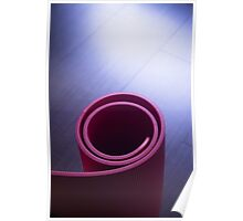Red fitness yoga and pilates foam gym mats Poster