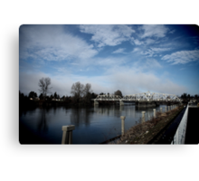 South Skagit Valley Bridge Canvas Print