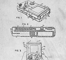 Nintendo Classic Original GameBoy Patent Art by Edward Fielding