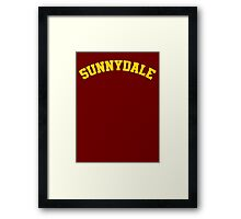 Sunnydale High School Tee Framed Print