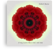 O my Luve's like a red, red rose Canvas Print
