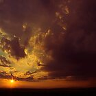 burning in the sky 2 by Bogdan Ciocsan