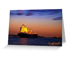The Freighter Greeting Card