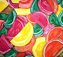 """Fruit Slices"" by Adela Camille Sutton"