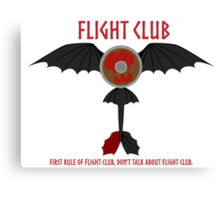 Flight Club - Motto Canvas Print