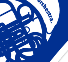 THE BLUE FRENCH HORN Sticker