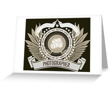 Amazing 'Photographer's Crest and Stars Limited Edition Design' T-shirts, Hoodies, Accessories and Gifts Greeting Card