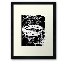 The ONE Ring, L'unico Anello Black ed. Framed Print