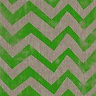 Lime chevron on linen by vinpez