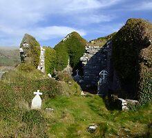 Rural church ruins by John Quinn