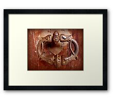 Medieval Door Knocker Framed Print