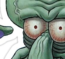 Squidward Unsure Face Sticker