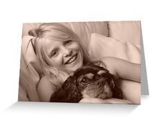 Me and my dog..... Greeting Card