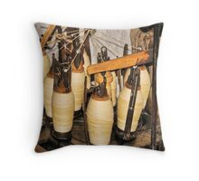The history of weaving Throw Pillow