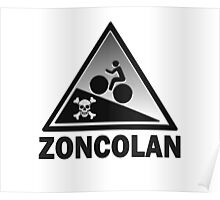 Monte Zoncolan Cycling Road Sign Gradient Shirt Poster