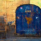 Marais cat and blue door by culturequest