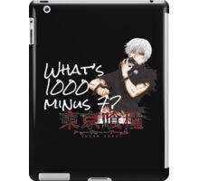 1000 minus 7 iPad Case/Skin