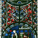 Small area of window Carlisle Cathedral Cumbria England 198405250031 by Fred Mitchell