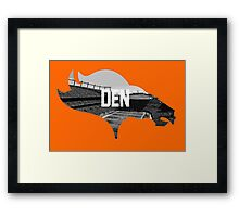Broncos Sports Authority  Framed Print