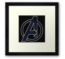2D Simple Avengers Symbol Framed Print