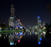 Melbourne Night Sky Line by Daniel Smith
