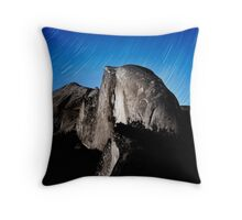 Stars trails over Half Dome Throw Pillow