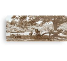 Amish Boat Trailer Metal Print