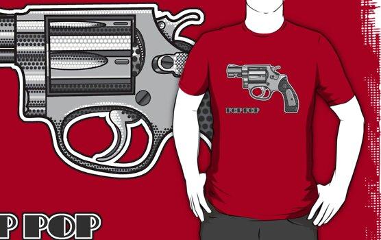 Pop Art Revolver by Sarah Martin