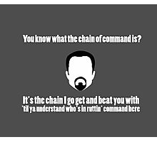 The Chain of Command - White Photographic Print