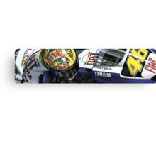 Valentino Rossi - Fiat Yamaha M1 Canvas Print