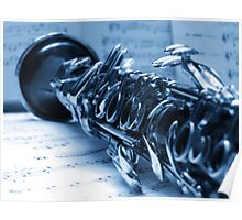 Clarinet Blues Poster
