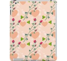 Roses on a pink background iPad Case/Skin