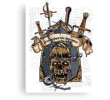 Skull Goth Rock 02 Canvas Print