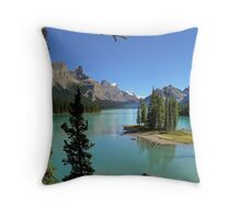Lake Maligne - Jasper National Park Throw Pillow
