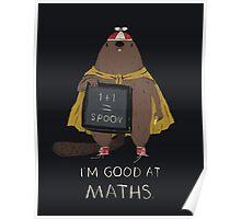 i'm good at maths Poster