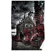 Snowy day at Monsalvat Poster