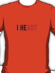 I Heart, love art T-Shirt