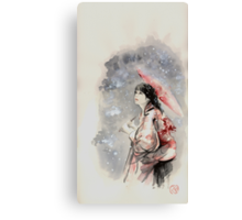 Geisha sign room decoration, japanese woman wall print, geisha figurine large poster Canvas Print