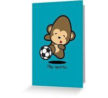 Farm Babies - Play sports Greeting Card