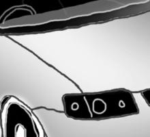 VW Polo 6n2, minimal digital sketch Sticker
