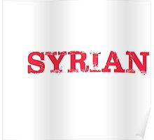 Smart Good Looking Syrian T-shirt Poster