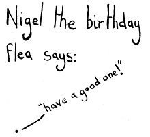 Nigel the Birthday Flea by scruffian