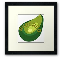 AVOCADO FRUIT  Framed Print