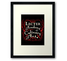 Lecter Academy of Culinary Arts. Framed Print